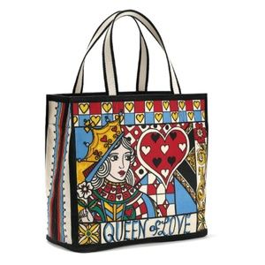 Brighton Queen Of Love Canvas Tote Deck Of Cards